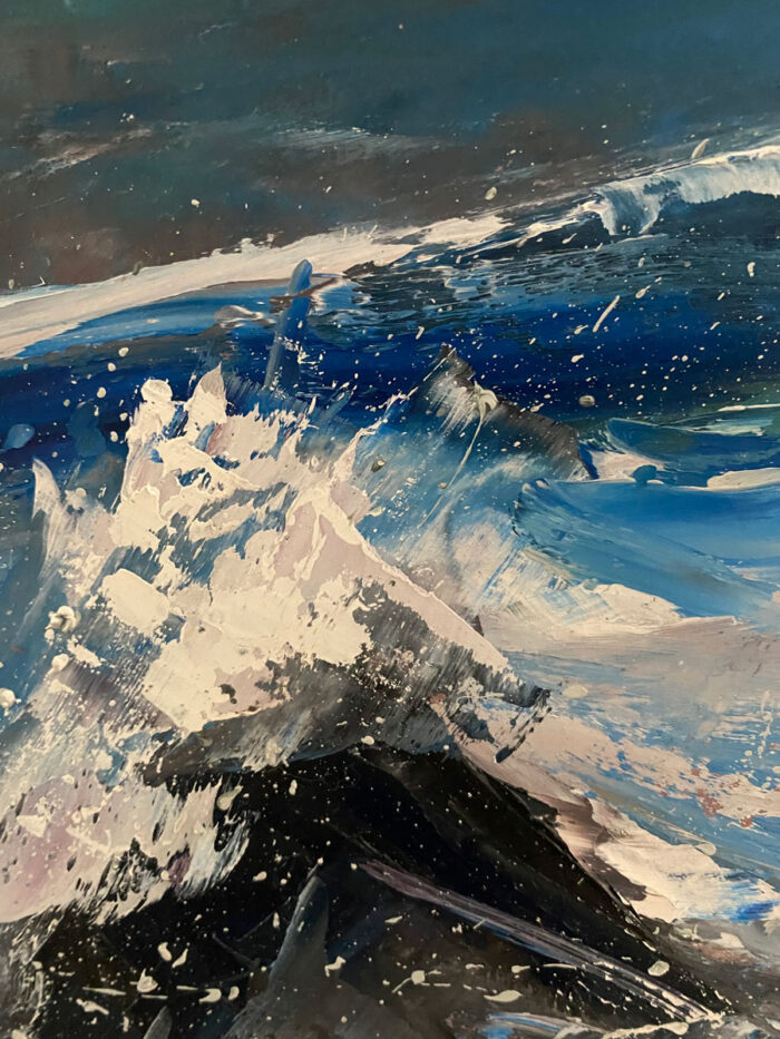 The Waves Crashed Along The Wil Atlantic Way - Original Seascape Oil Painting