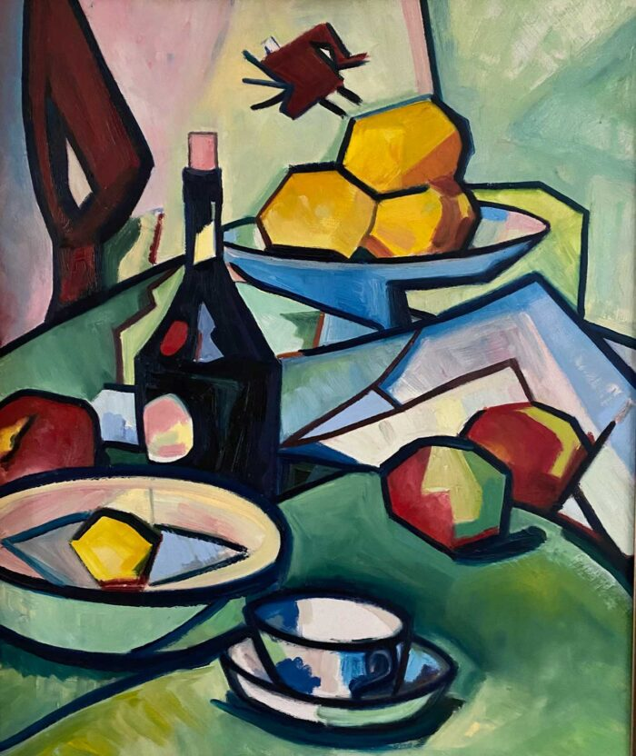 Apples and Oranges - after Peploe - Oil on board