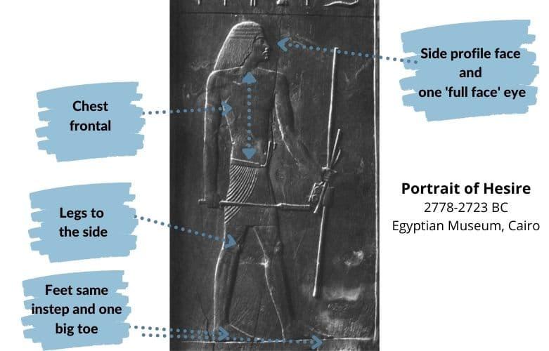 portrait of Hesire - Egyptian art