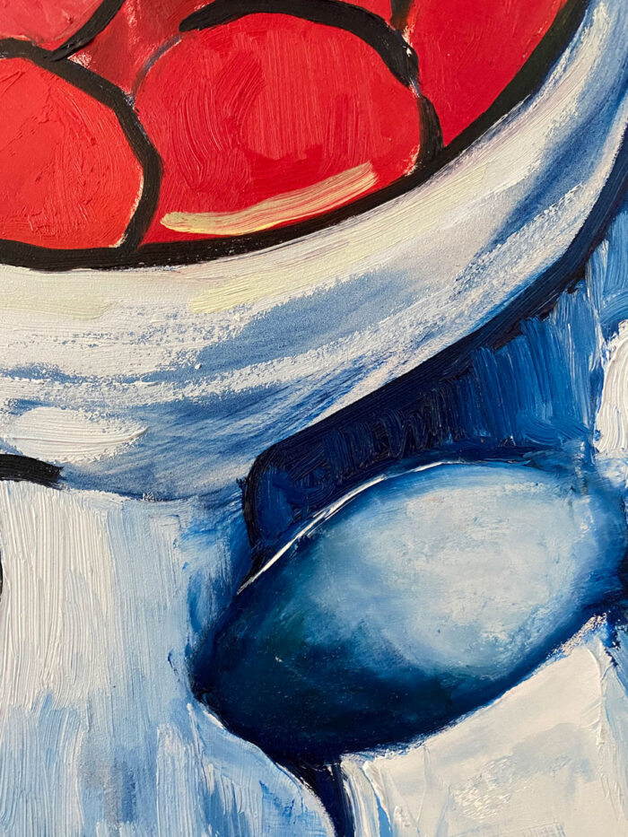 Still life of Primaries - after Vlaminck - Oil painting