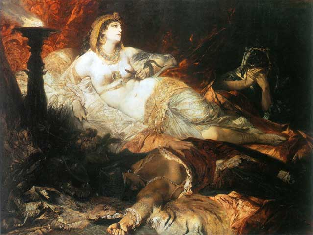 the death of Cleopatra 1875-76 - Egyptian art