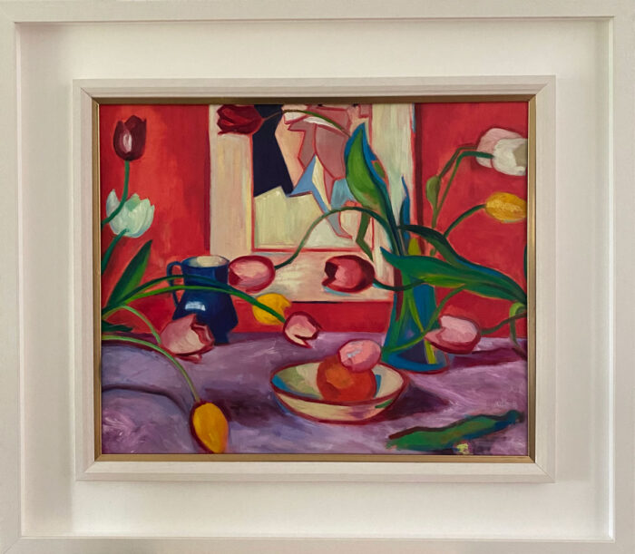 Tulips and Vermillion - after Peploe - Oil painting