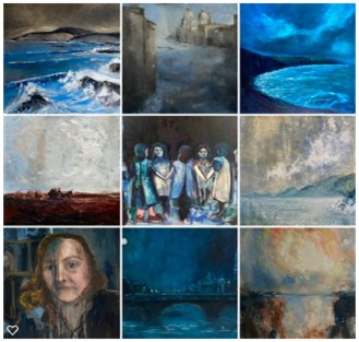 more examples of my work using the colour blue