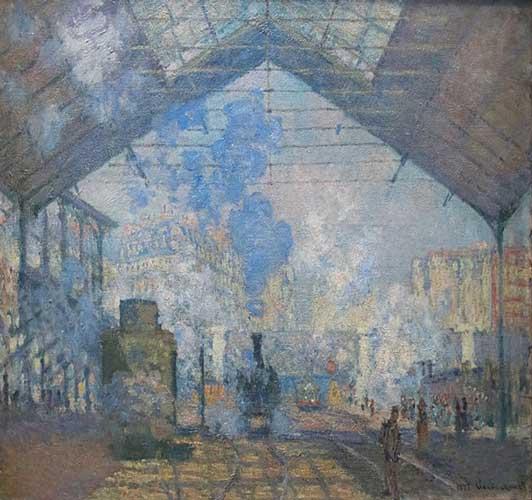 The Gare Saint Lazare - Monet
