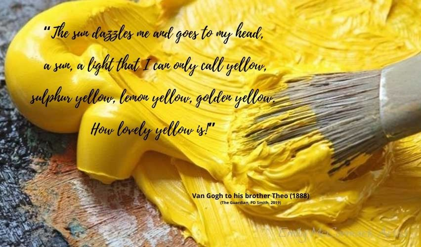 The colour yellow
