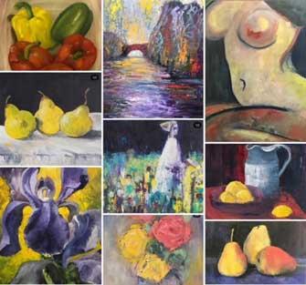 Emily McCormack yellow paintings