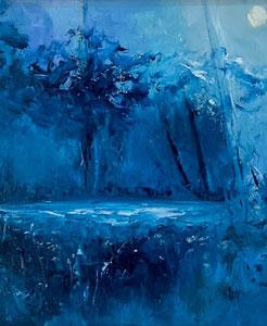 monochromatic deep blue