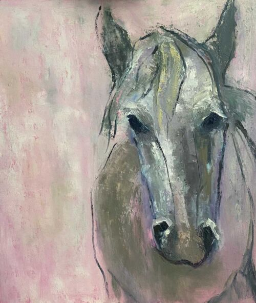 old friend - equine original oil painting