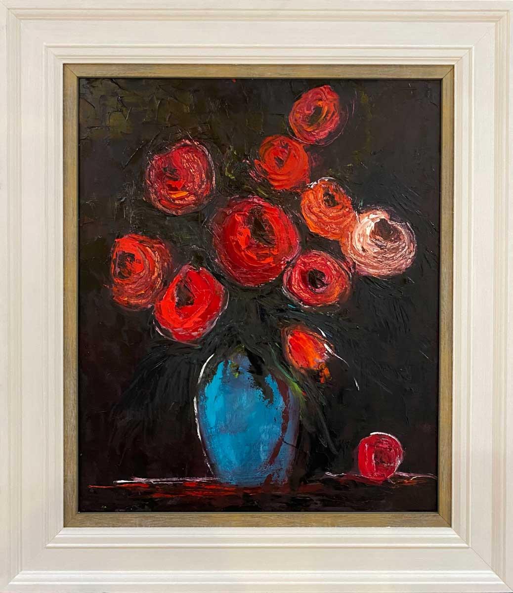 Roses My Luv - Original floral oil painting