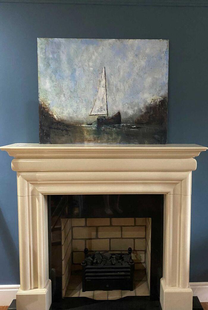 Adventure Awaits Those Prepared To Set Sail - original oil painting